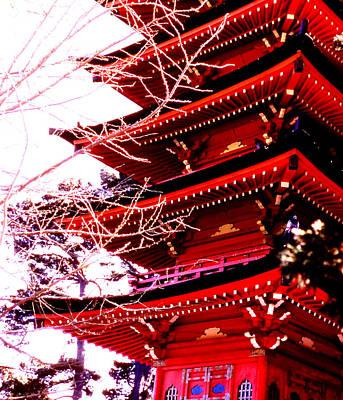 Photograph - Red Pagoda by Robert  Rodvik