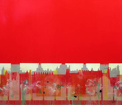 Red Painting Oil On Linen Art Print by Charlie Millar