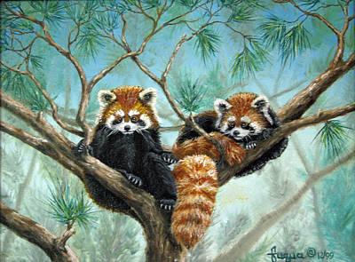 Red Panda Painting - Red Pandas by Beverly Fuqua