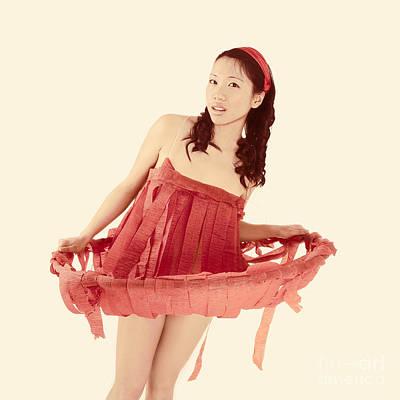 Red Paper Dress Art Print