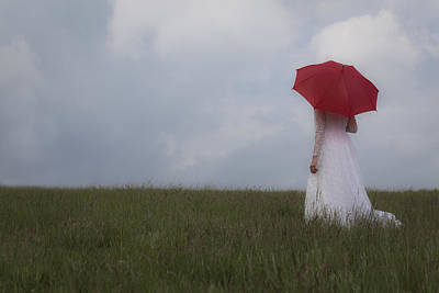 Ladies In Waiting Photograph - Red Parasol by Maria Heyens