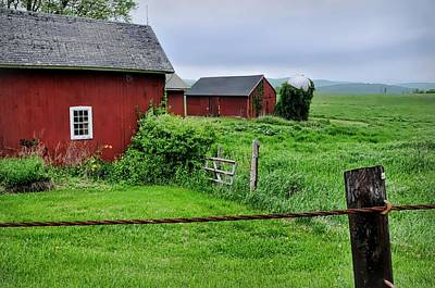 Barn And Silo Photograph - Red Pasture by Diana Angstadt