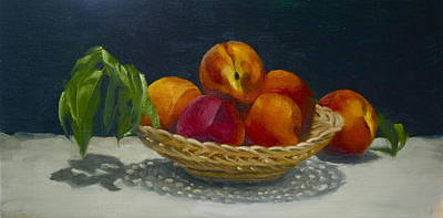 Painting - Red Peaches by Roger Clark