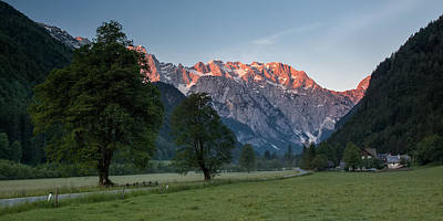 Logar Photograph - Red Peaks by Davorin Mance