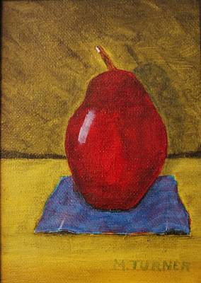 Art Print featuring the painting Red Pear by Melvin Turner