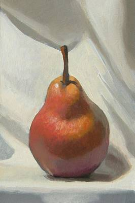 Red Pear Art Print by Peter Orrock