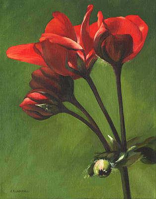 Painting - Red Pelargonium by Alecia Underhill