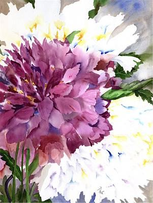 Flora Painting - Red Peony by Neela Pushparaj