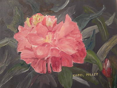 Painting - Red Peony Radiance by Carol L Miller