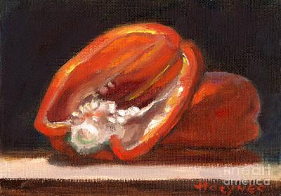 Red Pepper Art Print by Addie Hocynec