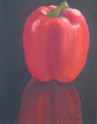 Bell Pepper Painting - Red Pepper by Maria Hunt