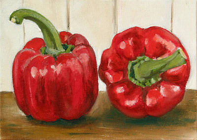 Pepper Painting - Red Pepper by Sarah Lynch