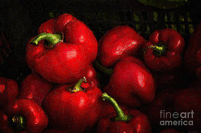 Farmers Market Digital Art - Red Pepper Still Life by Mary Machare