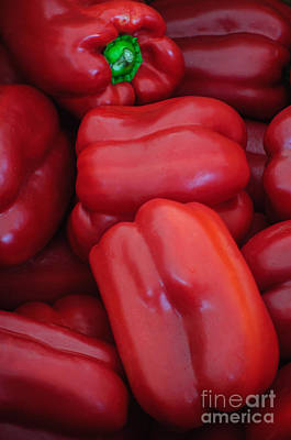 Photograph - Red Peppers by Tikvah's Hope