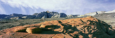 Snow Canyon State Park Photograph - Red Petrified Sand Dunes White Navajo by Panoramic Images