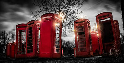Phone Box Photograph - Red Phone Box Art 3 by Ian Hufton