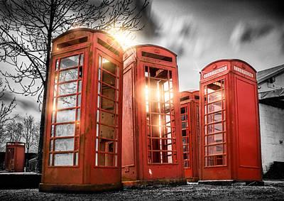 Phone Box Photograph - Red Phone Box Art by Ian Hufton