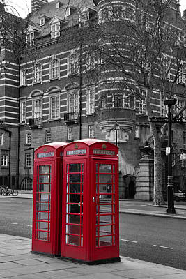 Modern Kitchen - Red Phone Boxes by David Pringle