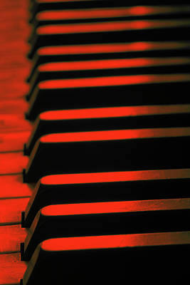 Photograph - Red Piano by Steve Ball