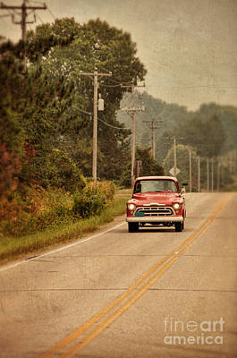 Photograph - Red Pick Up Truck by Jill Battaglia