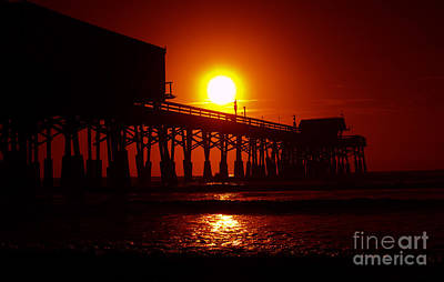 Photograph - Red Pier by Jerry Hart