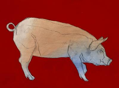 Red Pig Original by Randine Dodson