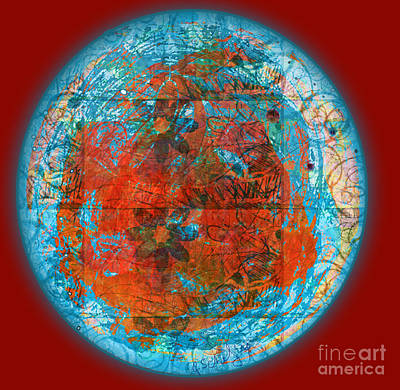 Digital Art - Red Plate by Gabrielle Schertz