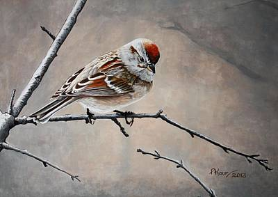 Red Poll Art Print by Pam Kaur