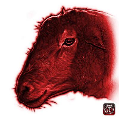 Digital Art - Red Polled Dorset Sheep - 1643 Fs by James Ahn