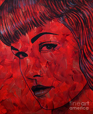 Red Pop Bettie Art Print