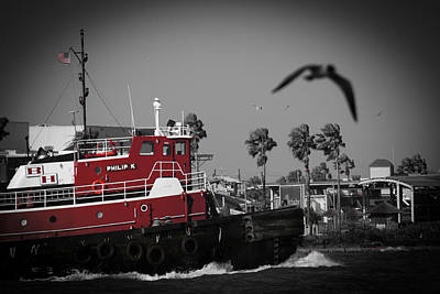 Red Pop Tugboat Art Print