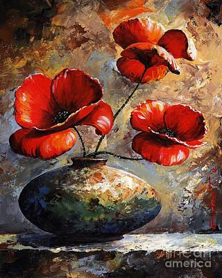 Vase Painting - Red Poppies 02 by Emerico Imre Toth