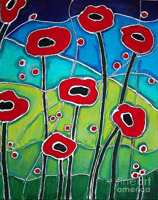 Painting - Red Poppies 1 by Cynthia Snyder