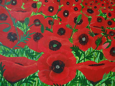 Painting - Red Poppies 1 by Karen Jane Jones