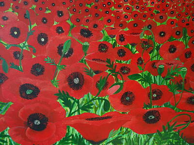 Painting - Red Poppies 2 by Karen Jane Jones