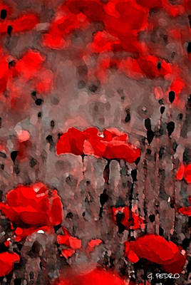 Painting - Red Poppies by George Pedro