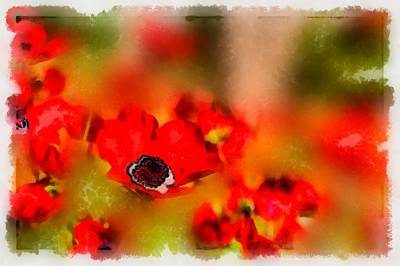 Red Poppies Inspiration Art Print