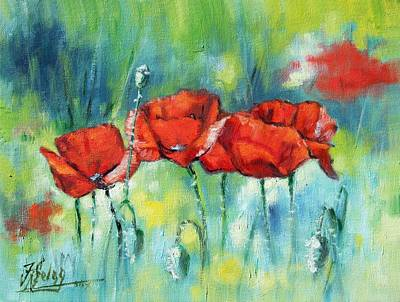 Painting - Red Poppies by Irek Szelag