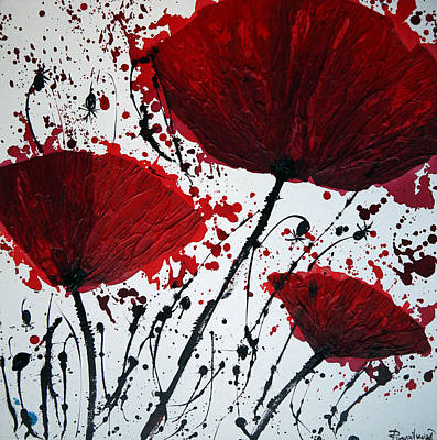 Red Poppies Painting - Red Poppies by Irina Rumyantseva