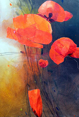 Red Poppy Painting - Red Poppies by Istvan Korbely