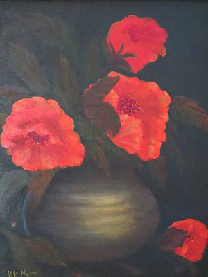 Painting - Red Poppies by Kay Novy