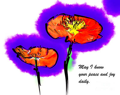 Digital Art - Red Poppies by Kirt Tisdale