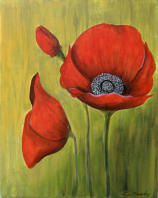 Painting - Red Poppies by Lee Owenby