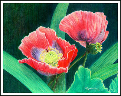 Painting - Red Poppies by Mariarosa Rockefeller
