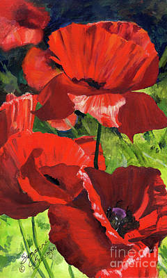 Painting - Red Poppies by Suzanne Schaefer