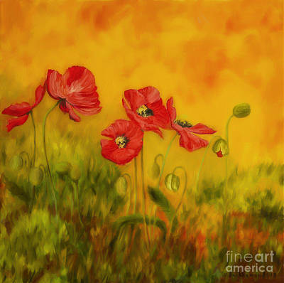 Red Poppies Original by Veikko Suikkanen