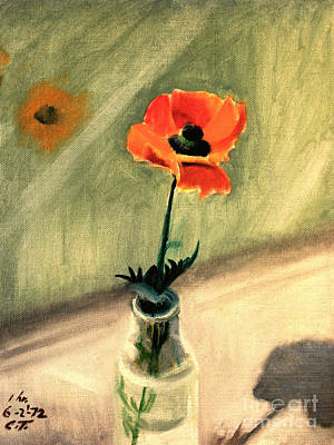 Painting - Red Poppy by Art By Tolpo Collection