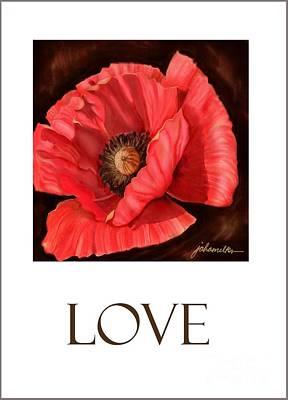 Digital Art - Red Poppy Card by Joan A Hamilton
