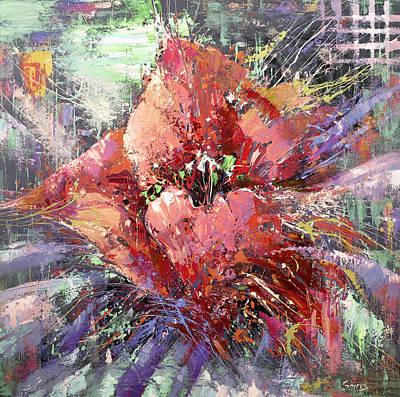 Decorativ Painting - Red Poppy by Dmitry Spiros