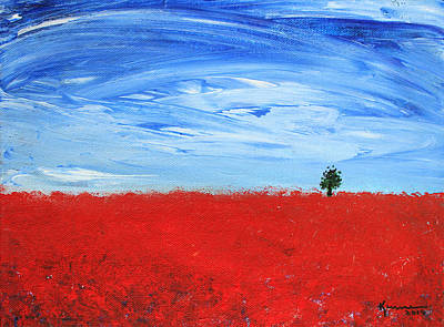 Painting - Red Poppy Field by Kume Bryant